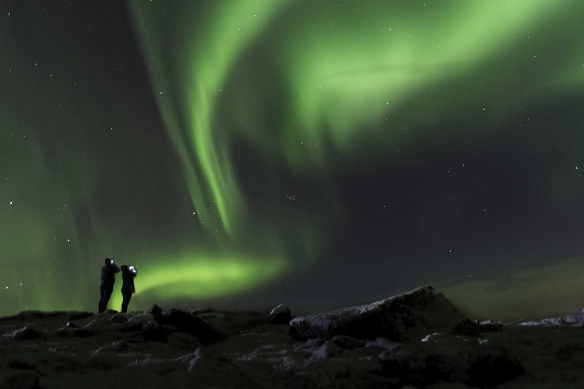 observation aurore boréale Islande