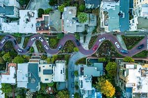 San Francisco Russian Hill - voyage sur la cote ouest