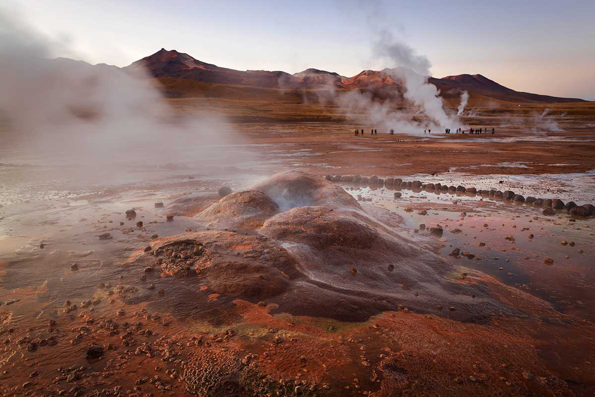 Geyser Tatio désert d'Atacama
