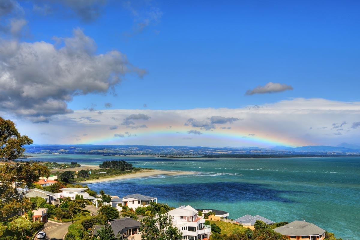 Plage de Tahunanui Ile du Sud de Nouvelle Zelande