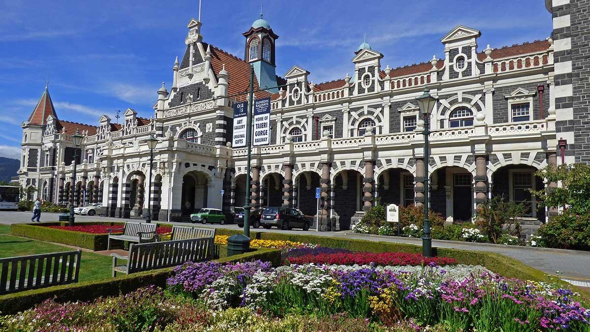 la gare de Dunedin Nouvelle Zelande