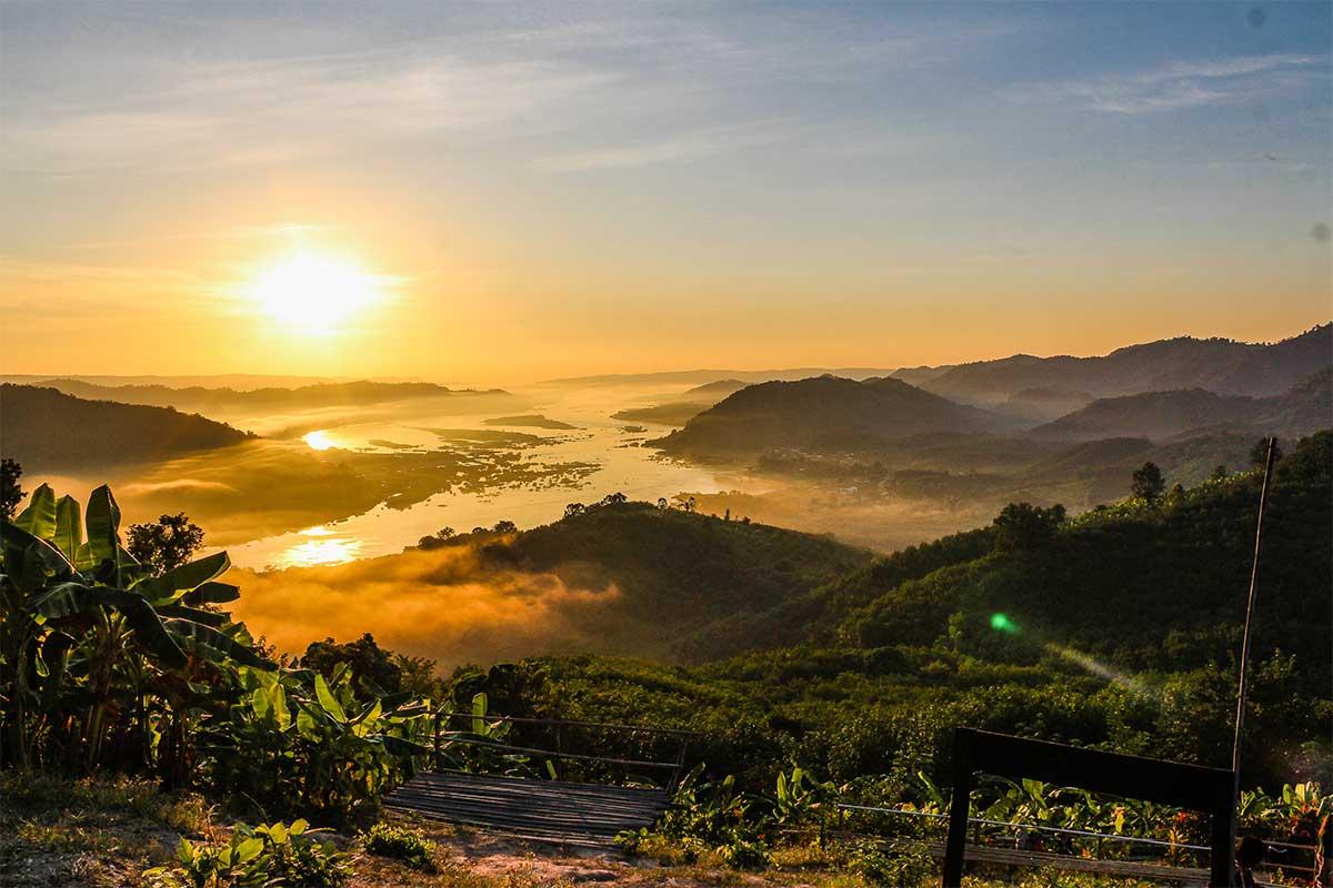 Mekong-province de Nang Khai en thailande