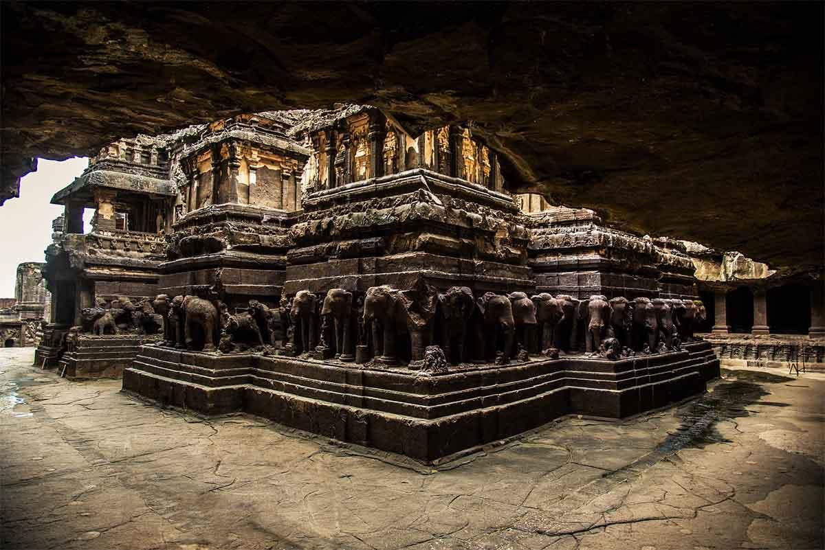 temple Kailasa en Inde