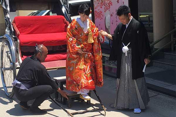 Mariage traditionnel au Japon