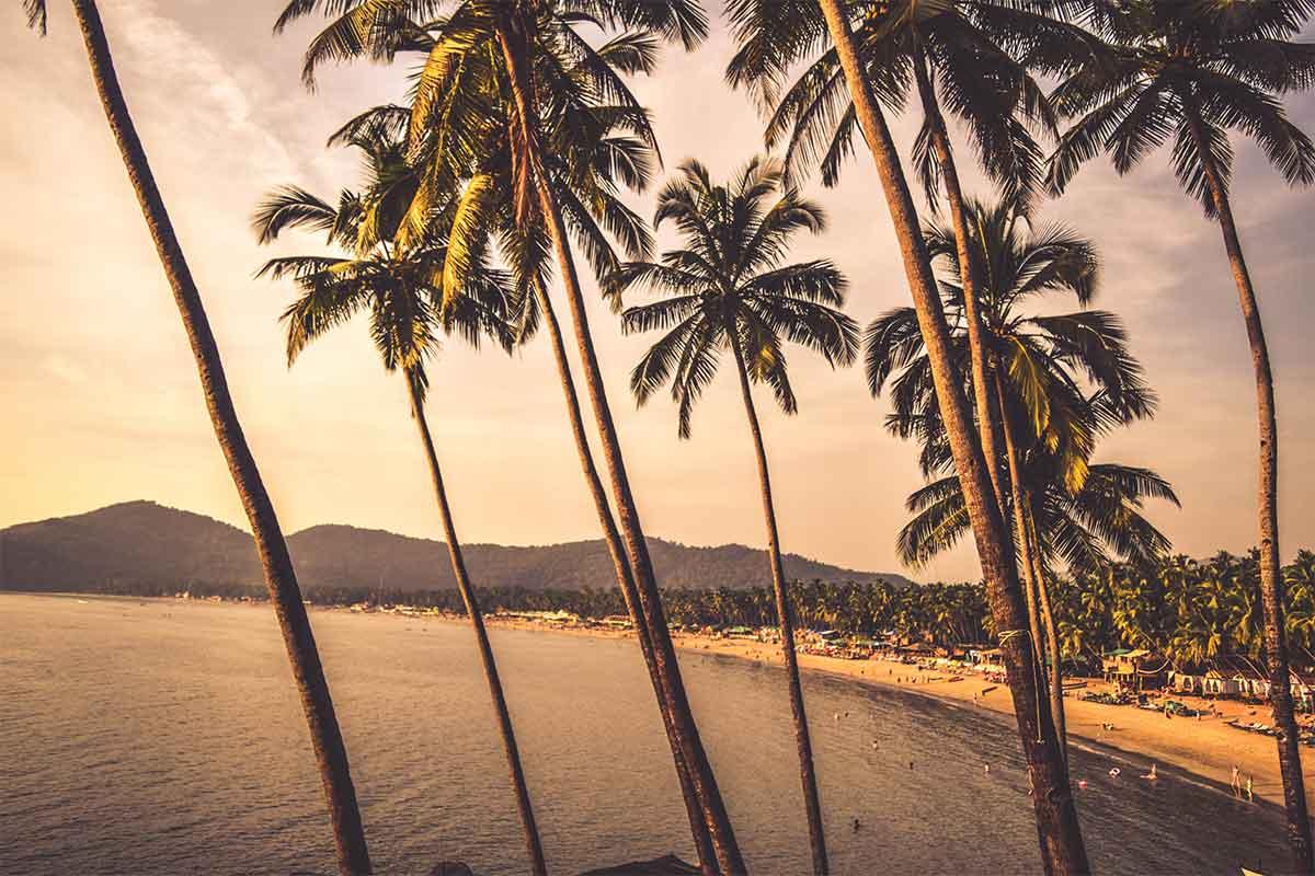vue due la plage de Goa