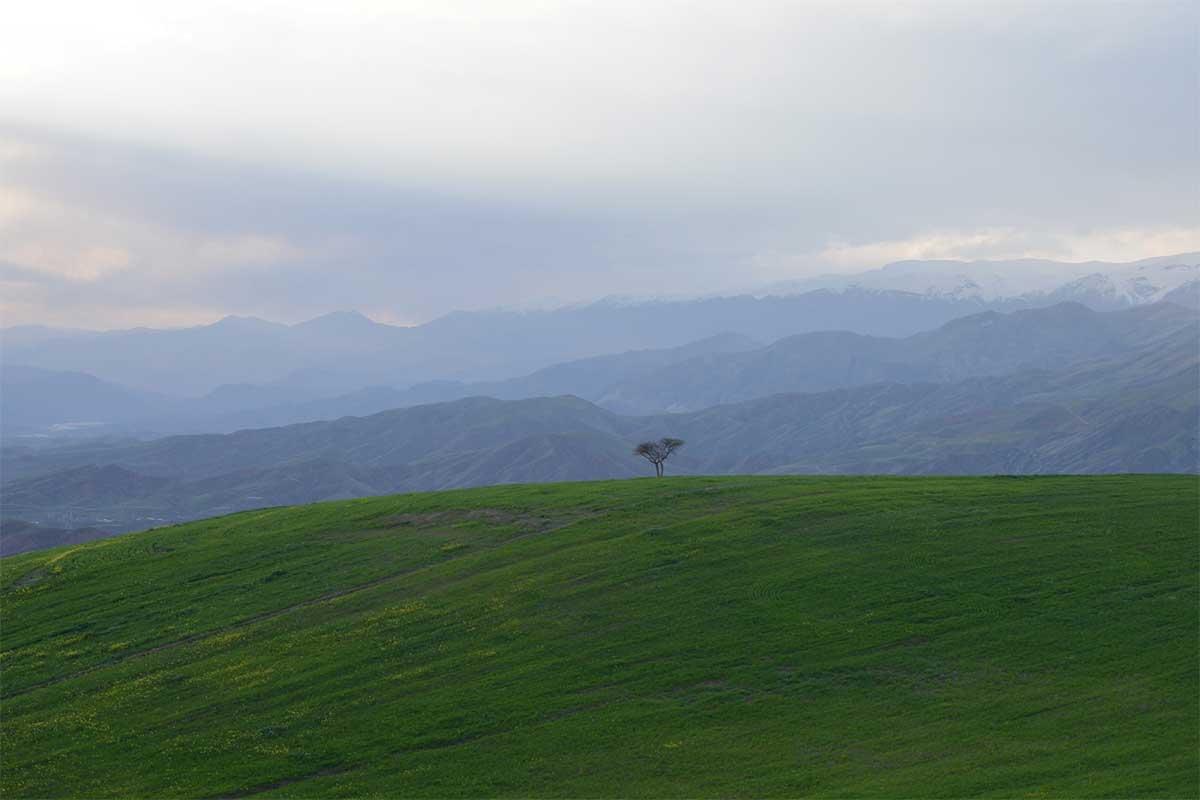 Iran, vue sur la vallée de Alamut