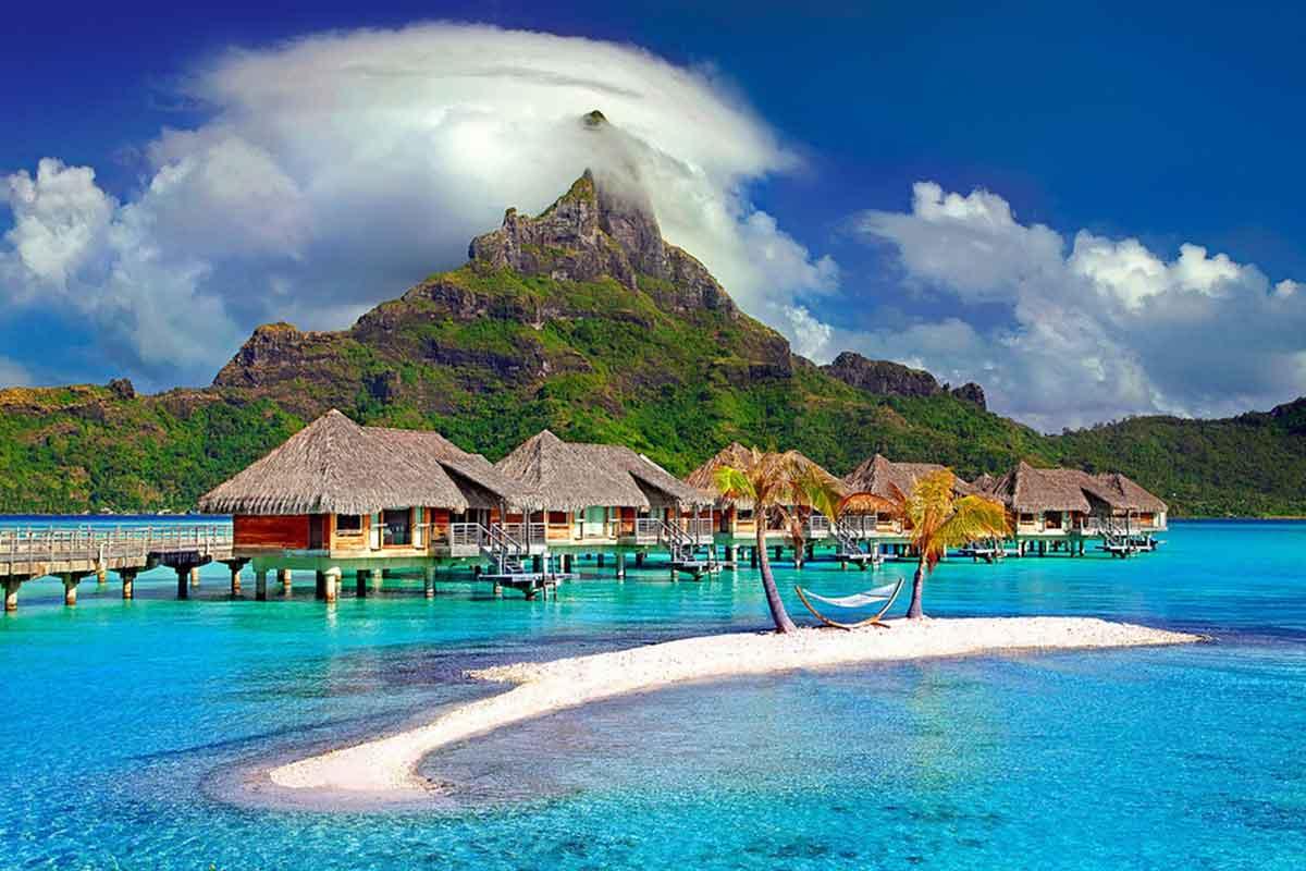 L'île de Bora Bora en Polynésie-Française
