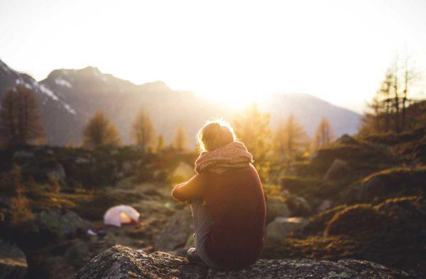 coucher de soleil en pleine nature