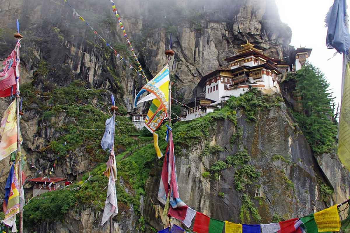 Le monastère Takshang au Bhoutan